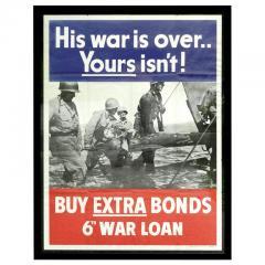 His War Is Over War Bond Poster - 640433