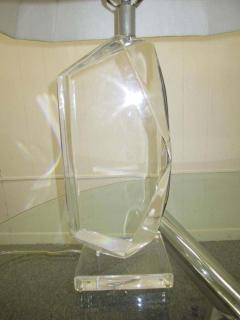Hivo G Van Teal Stunning Pair of Mid Century Modern Faceted Lucite Lamps Signed by Van Teal - 1843529