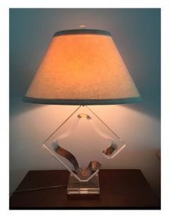 Hivo G Van Teal Vintage Sculptural Lucite Table Lamp Hivo G Van Teal - 74390
