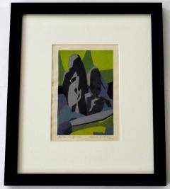 Hodaka Yoshida Daisen in Garden a Woodblock Print by Hodaka Yoshida 1953 - 513382