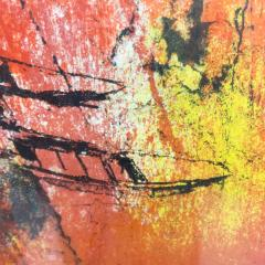 Hoi Lebadang Abstract Art Boats Along River Lithograph 267 275 Hand Signed 1970s - 1984053