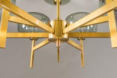 Holger Johansson Five Swedish Chandeliers in Brass and Glass by Holger Johansson - 898668