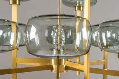 Holger Johansson Five Swedish Chandeliers in Brass and Glass by Holger Johansson - 898670