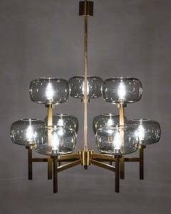 Holger Johansson Five Swedish Chandeliers in Brass and Glass by Holger Johansson - 898672