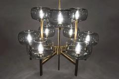Holger Johansson Five Swedish Chandeliers in Brass and Glass by Holger Johansson - 898674