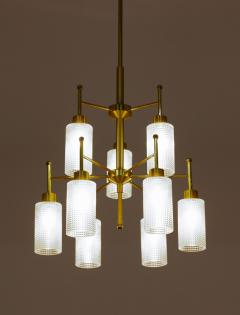 Holger Johansson Swedish Chandeliers in Brass and Glass by Holger Johansson - 1620366