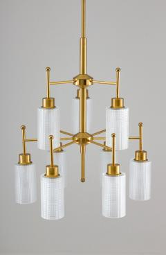 Holger Johansson Swedish Chandeliers in Brass and Glass by Holger Johansson - 1620367