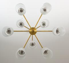 Holger Johansson Swedish Chandeliers in Brass and Glass by Holger Johansson - 1620370