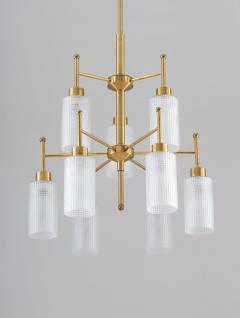 Holger Johansson Swedish Chandeliers in Brass and Glass by Holger Johansson - 1620371
