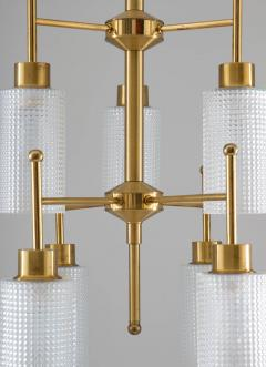 Holger Johansson Swedish Chandeliers in Brass and Glass by Holger Johansson - 1620372