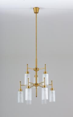 Holger Johansson Swedish Chandeliers in Brass and Glass by Holger Johansson - 1620374