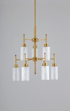 Holger Johansson Swedish Chandeliers in Brass and Glass by Holger Johansson - 1620375