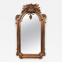 Hollywood Regency Carved Wall Console or Over the Mantle Mirror - 1242751
