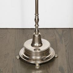 Hollywood Regency Chrome Floor Lamp with Crystal Tear Drop Embellishments - 1733296
