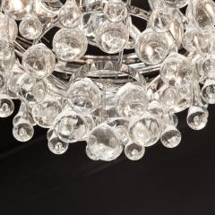 Hollywood Regency Crystal Graduated Teardrop Chandelier with Chrome Fittings - 1950022