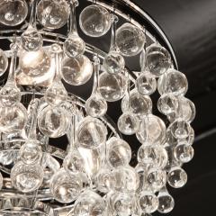 Hollywood Regency Crystal Graduated Teardrop Chandelier with Chrome Fittings - 1950026