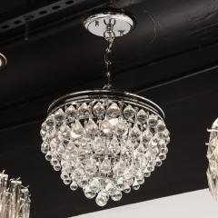 Hollywood Regency Crystal Graduated Teardrop Chandelier with Chrome Fittings - 1950033