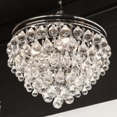 Hollywood Regency Crystal Graduated Teardrop Chandelier with Chrome Fittings - 1950034