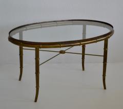 Hollywood Regency Italian Brass Faux Bamboo Table - 1078342