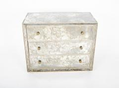 Hollywood Regency Style Mirrored Chest of Drawers - 2027483