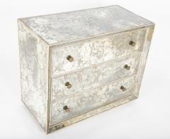 Hollywood Regency Style Mirrored Chest of Drawers - 2027491