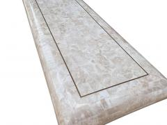 Hollywood Regency Tessellated Stone or White Marble Console Table or Sofa Table - 2058923