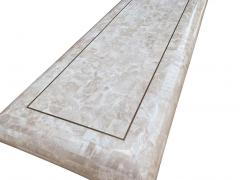 Hollywood Regency Tessellated Stone or White Marble Console Table or Sofa Table - 2058926