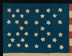 Homemade 34 Star Flag Cornflower Blue Interesting Configuration 1861 1863 - 639001