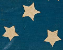 Homemade 34 Star Flag Cornflower Blue Interesting Configuration 1861 1863 - 639004