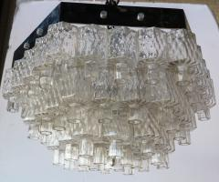 Honeycomb 1960s Italian Chrome and Glass Chandelier - 925370