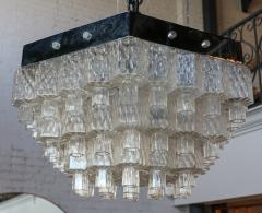 Honeycomb 1960s Italian Chrome and Glass Chandelier - 925371