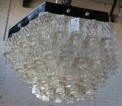 Honeycomb 1960s Italian Chrome and Glass Chandelier - 925372