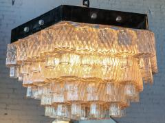 Honeycomb 1960s Italian Chrome and Glass Chandelier - 925373