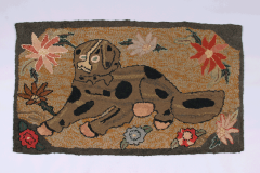 Hooked Rug of a Large Dog - 134061