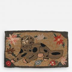Hooked Rug of a Large Dog - 134105