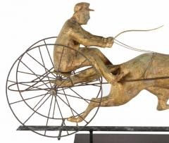 Horse George M Patchen with a Sulkey and Driver Large Weathervane - 594133