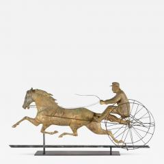 Horse George M Patchen with a Sulkey and Driver Large Weathervane - 595328