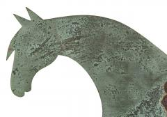 Horse Weathervane Made of Sheet Bronze with Iron Fittings - 594109