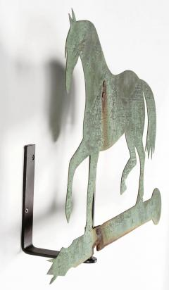 Horse Weathervane Made of Sheet Bronze with Iron Fittings - 594113