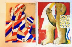 Horst Antes 2 Horst Antes Color Lithographs circa 1968 - 1533869