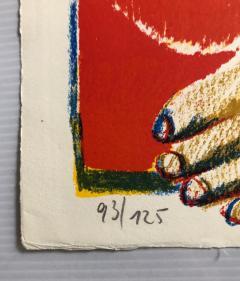 Horst Antes 2 Horst Antes Color Lithographs circa 1968 - 1533870