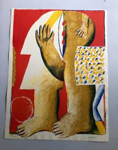 Horst Antes 2 Horst Antes Color Lithographs circa 1968 - 1533876