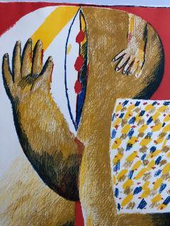 Horst Antes 2 Horst Antes Color Lithographs circa 1968 - 1533877