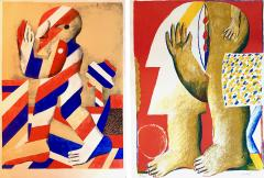Horst Antes 2 Horst Antes Color Lithographs circa 1968 - 1543856