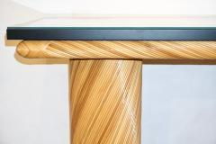 Howard Dilday 1970s Howard Dilday Organic Rattan Console Table with Black Lacquer Border - 1660386
