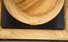 Howard Dilday 1970s Howard Dilday Organic Rattan Console Table with Black Lacquer Border - 1660402