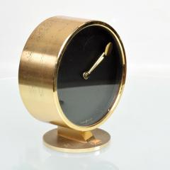 Howard Miller Howard Miller Classic Modern 1970s Desk Table Clock in Patinated Brass - 1632649