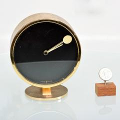 Howard Miller Howard Miller Classic Modern 1970s Desk Table Clock in Patinated Brass - 1632650