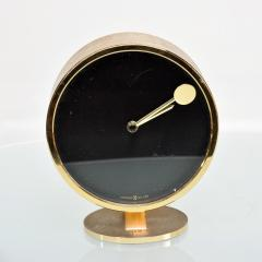 Howard Miller Howard Miller Classic Modern 1970s Desk Table Clock in Patinated Brass - 1632653
