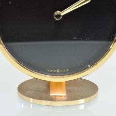 Howard Miller Howard Miller Classic Modern 1970s Desk Table Clock in Patinated Brass - 1632654